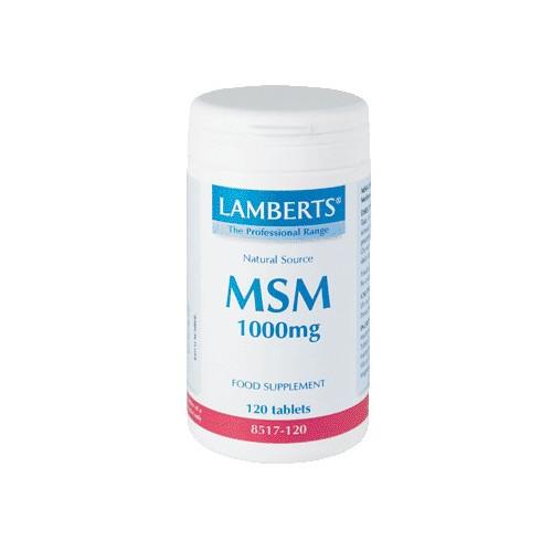 MSM 1000 MG 120 COMP LAMBERTS