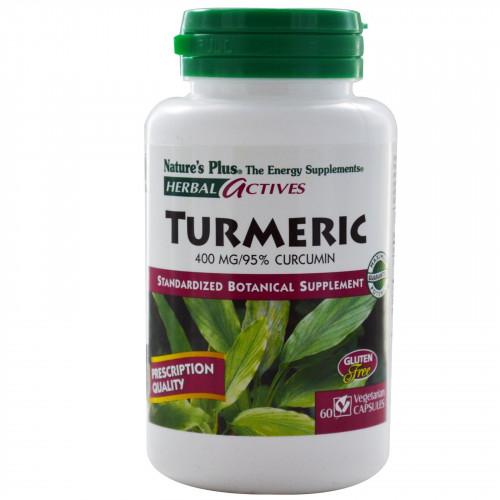TURMERIC (CURCUMA) 400 MG 60 CAP HERBAL ACTIVES NATURE'S PLUS