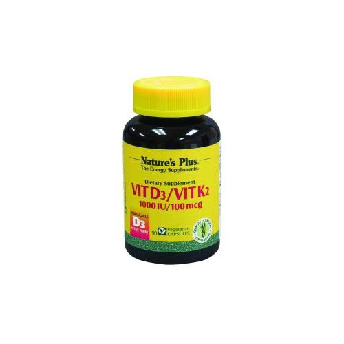 VITAMINA D3 / VITAMINA K2 90 CAP NATURE'S PLUS