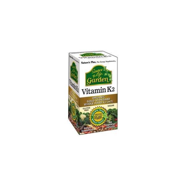 VITAMINA K-2 (MENAQUINONA 7) 120 MCG 60 CAP VEG NATURE'S PLU