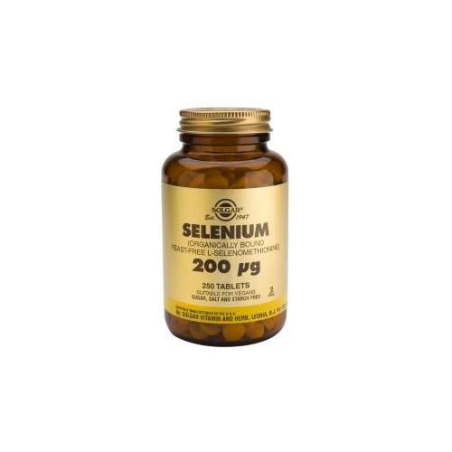 SELENIO 200 MCG 100 COMP SIN LEVADURA SOLGAR