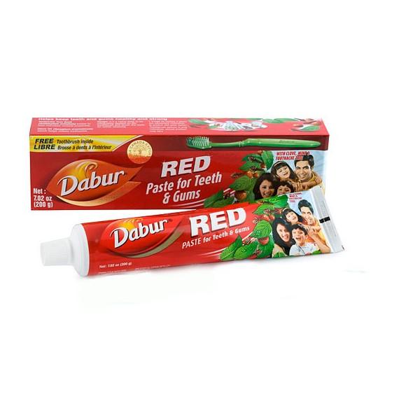 Dentífrico Ayurvédico Rojo 200gr Dabur Vegetalia