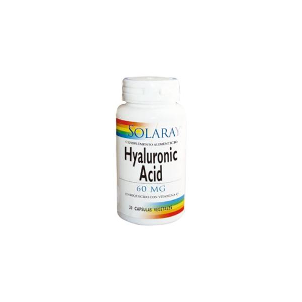 HYALURONIC ACID 60 MG 30 CAP SOLARAY