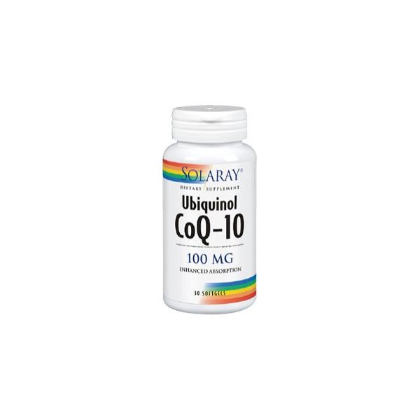UBIQUINOL COQ-10 100 MG 30 CAP SOLARAY