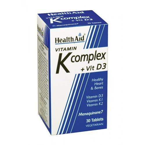 VITAMINA K COMPLEX.CON VIT D3 30 COMP HEALTH AID NUTRINAT