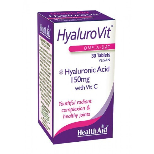 HYALUROVIT (HIALURONIC + VIT.C) 30 CAP HEALTH AID NUTRINAT