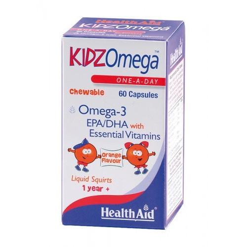 KIDZ OMEGA MASTICABLE 60 CAP MASTICABLES HEALTH AID NUTRINAT