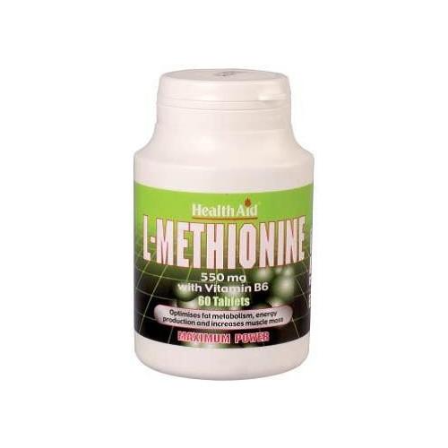 METIONINA 550 MG CON B6  60 COMP HEALTH AID NUTRINAT