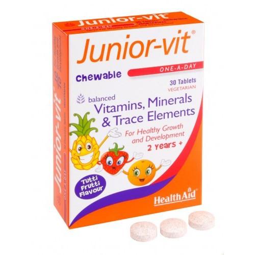 JUNIOR VIT MASTICAB.30 COMP. HEALTH AID-NUTRINAT