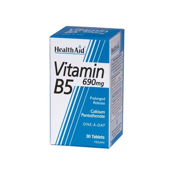 VITAMINA B-5 (PANTOTENATO CALCICO) 750 MG 30 COMP NUTRINAT