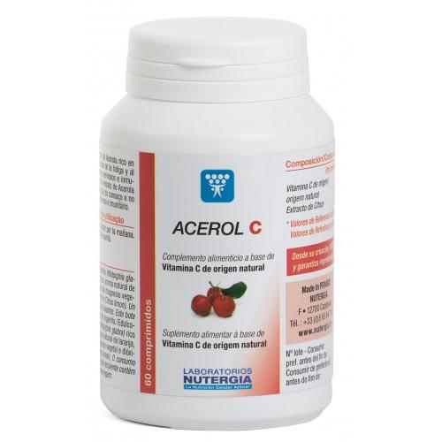 ACEROL C 60 COMPRIMIDOS MASTICABLES NUTERGIA
