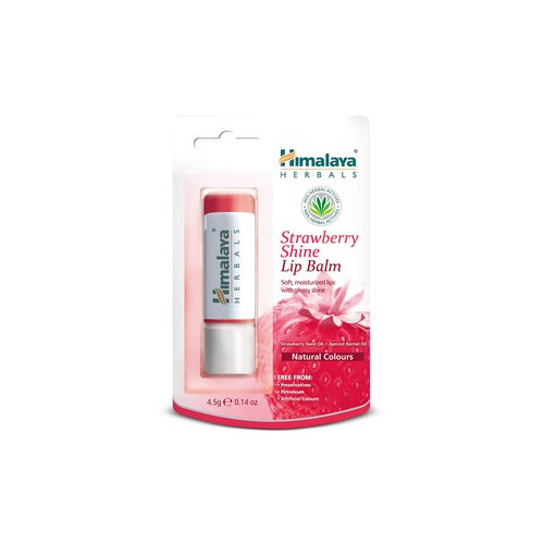 BALSAMO LABIAL BRILLO STRAWBERRY FRESA SHINE LIP BALM HIMALAYA