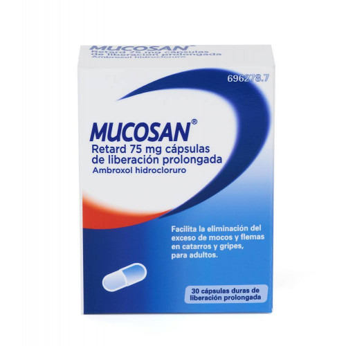 MUCOSAN RETARD 75 mg 30 CAPSULAS DE LIBERACION PROLONGADA