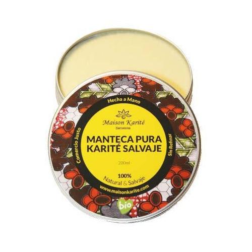 MANTECA KARITE SALVAJE BIO SIN REFINAR 200 ML MAISON KARITE