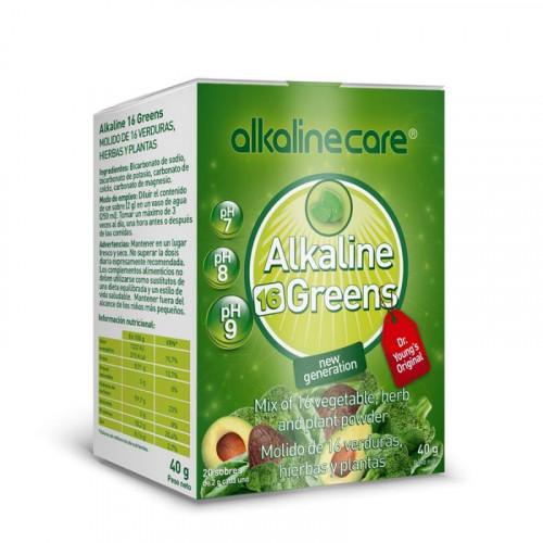 GREENS 20 SOBRES (ALKALINE 16 GREENS) ALKALINE CARE