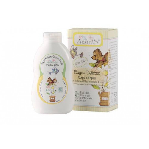 GEL BAÑO Y CHAMPU DELICADO PROTEINAS ARROZ BABY ECO 400 ML ANTHYLLIS