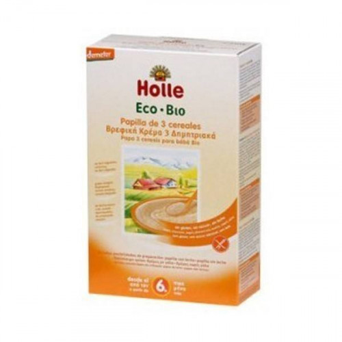 PAPILLA 3 CEREALES INT ECO 250 GR (+6 MESES) HOLLE