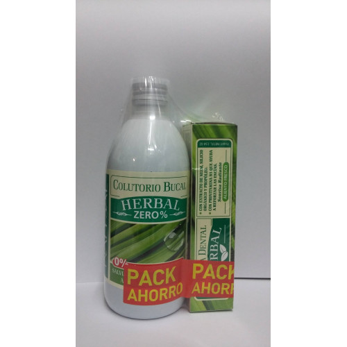 PACK COLUTORIO 500 ML+PASTA DENTAL 75ML HERBAL NATYSAL