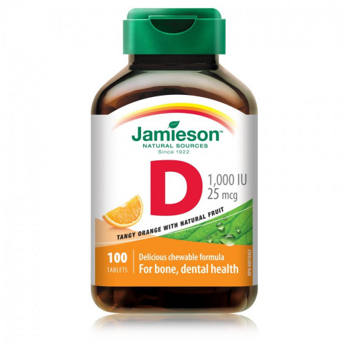 VITAMINA D 1000UI (25MG) 100COMP JAMIESON