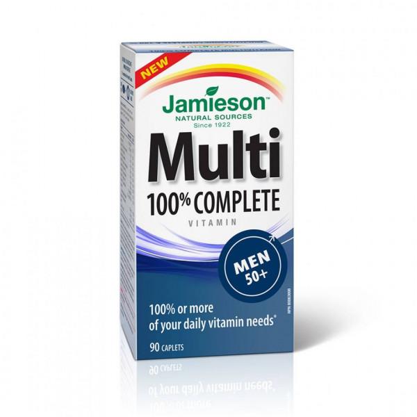 MULTI 100% COMPLETE VITAMINAS HOMBRE+50 90 COMP JAMIESON