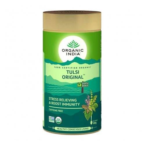 TULSI ORIGINAL TIN 100 GR ORGANIC INDIA