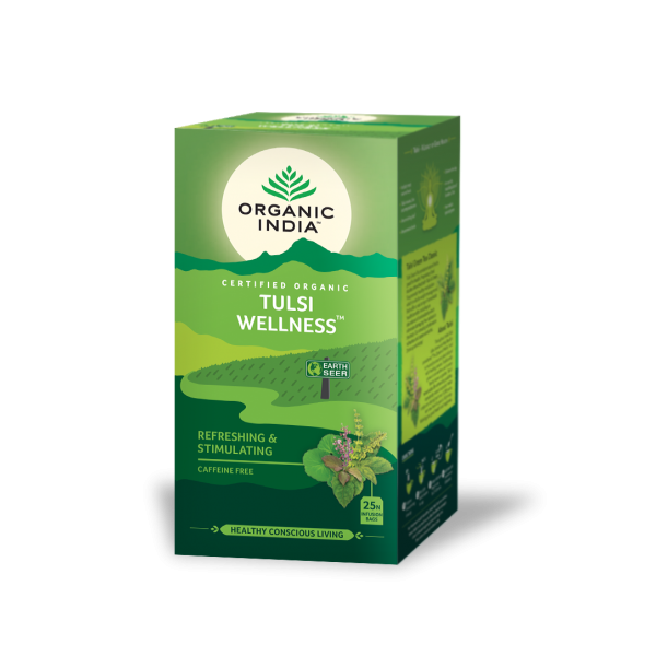 TULSI WELLNESS 25 SOBRES INFUSION ORGANIC INDIA