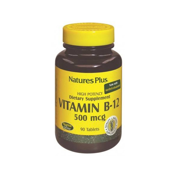 VITAMINA B12 500 MCG 90 COMP NATURES PLUS