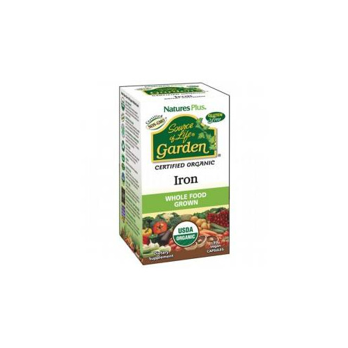 HIERRO GARDEN 18 MG 30 CAP NATURES PLUS