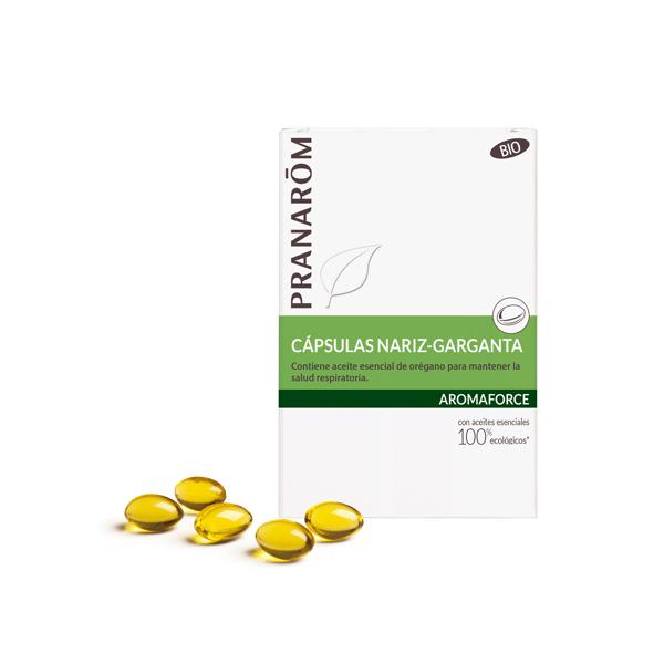 AROMAFORCE CAPSULAS NARIZ GARGANTA (OREGANO+LIMON) 30 CAP PRANAROM