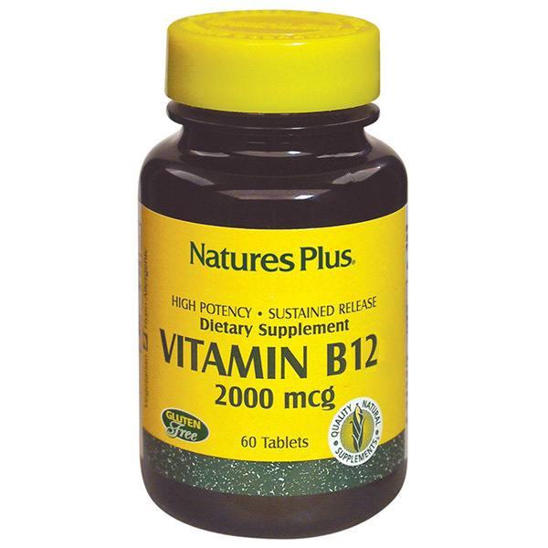 VITAMINA B12 2000 MCG 60 COMP NATURES PLUS