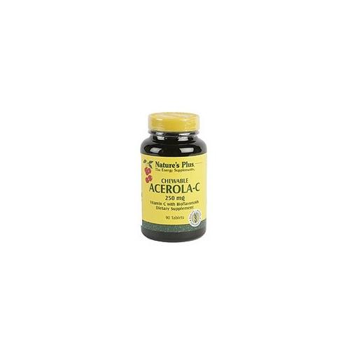 ACEROLA C MASTICABLE (VIT. C 250MG) 90 COMP NATURE'S PLUS