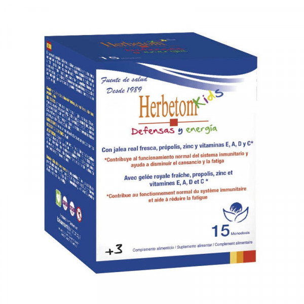 HERBETOM KIDS DEF Y ENERGIA 15 MONODOSIS BIOSERUM