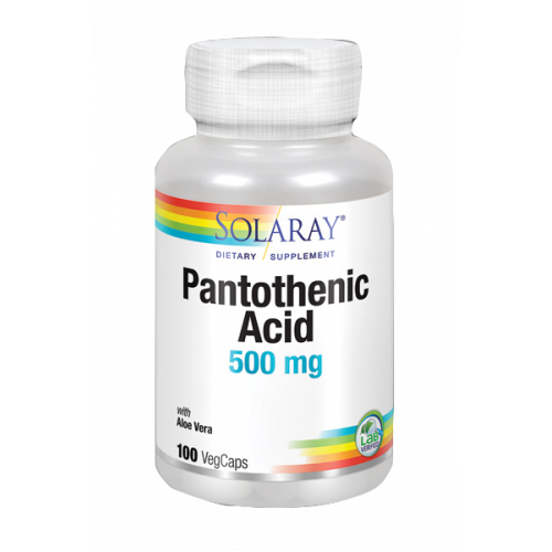PANTOTENIC ACID 500 MG 100 CAP SOLARAY