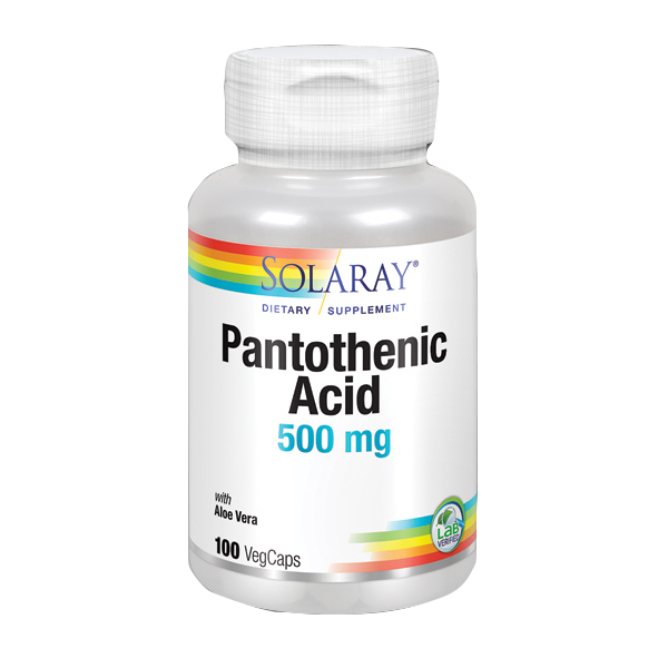 PANTOTENIC ACID 500 MG 100 CAP SOLARAY