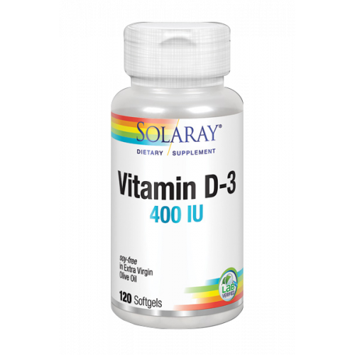 VITAMINA D 400 UI 120 CAP SOLARAY