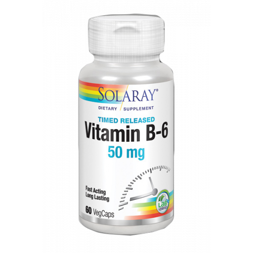 VITAMINA B-6 50 MG 60 CAP SOLARAY