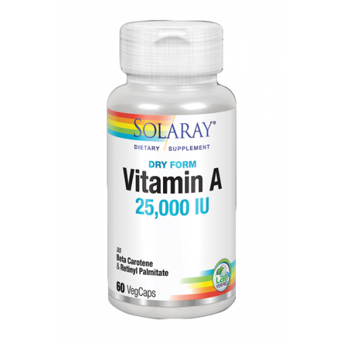VITAMINA A 25000 UI 60 CAP SOLARAY