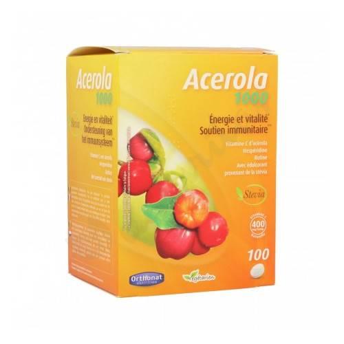 ACEROLA 1000 100 COMP MASTICABLES ORTHONAT