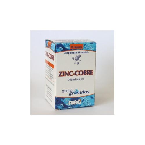 ZINC COBRE MICROGRANULOS 50 CAP NEO