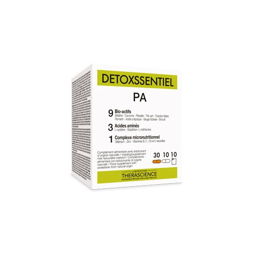 DETOXSSENTIEL PA POLLUTION 30 CAPS + 10 CAPS +10 SOBRES THERASCIENCE