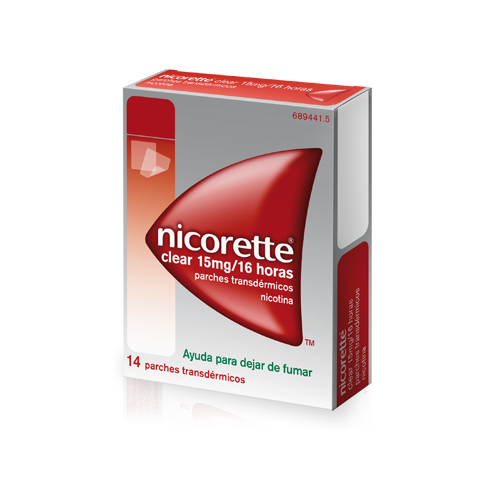 NICORETTE CLEAR 15 MG/16 HORAS 14 PARCHES TRANSDERMICOS