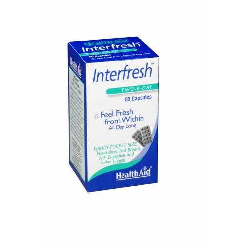 INTERFRESH 60 CAP HEALTH AID NUTRINAT