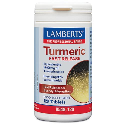 TURMERIC FAST RELEASE (CURCUMA RAPIDA LIB) 120TAB LAMBERTS