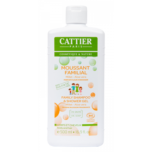 CATTIER GEL DUCHA FAMILIAR SIN SULFATOS (MOUSSANT FAMILIAL) BIO 500 CC
