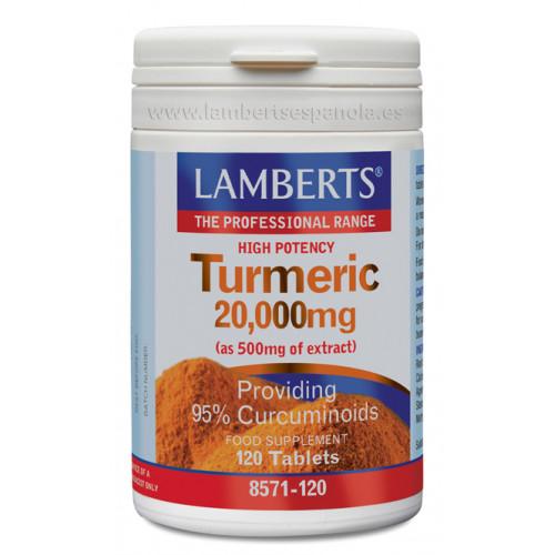 CURCUMA 10000 MG (TURMERIC) 120 COMP LAMBERTS