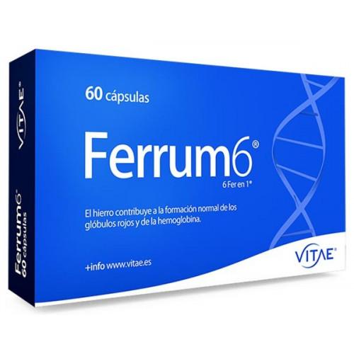 FERRUM6 (HIERRO 7 MG+FOLICO+ESPIRULINA) 60 CAP VITAE