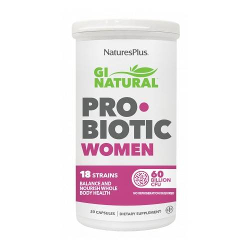 GI NATURAL PROBIOTIC WOMEN 30 CAP NATURES PLUS