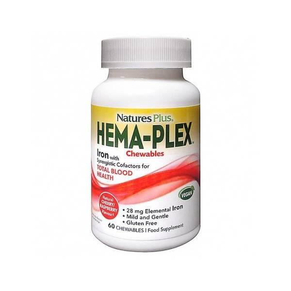 HEMAPLEX MASTICABLE 60 COMP NATURES PLUS