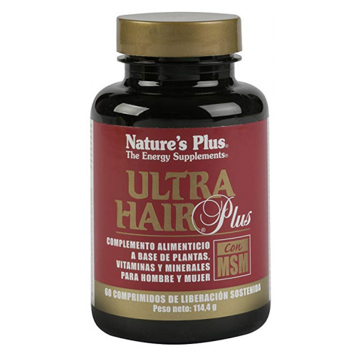 ULTRA HAIR PLUS MSM 60 COMP NATURE'S PLUS