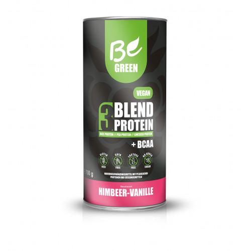 3 BLEND PROTEIN VAINILLA RASPBERRY 1 KG BE GREEN (BEGREEN)